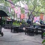 Jardin d'un restaurant