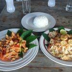Repas à Ban Cheun Beach