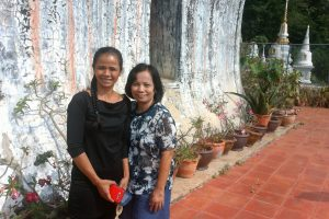 Joy & Onne au Wat Wihara Pranon